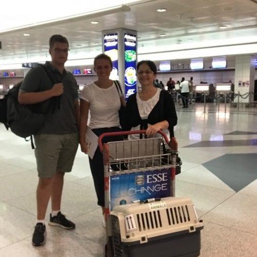 Laki and Stich to Düsseldorf, Germany
